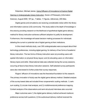 Mental Health Essay  Essay Paper also Expository Essay Thesis Statement Examples Using Diffusion Of Innovations To Explore Digital Gaming In  Business Essay Examples
