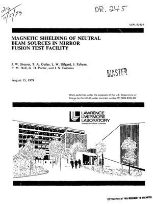 Primary view of object titled 'Magnetic shielding of neutral beam sources in mirror fusion test facility'.