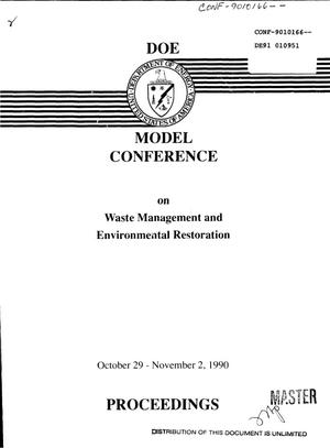 Primary view of object titled 'DOE model conference on waste management and environmental restoration'.