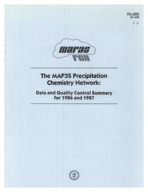 Primary view of object titled 'The MAP3S Precipitation Chemistry Network: Data and quality control summary for 1986 and 1987'.