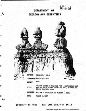 Primary view of object titled 'Gravity survey of the Cove Fort-Sulphurdale KGRA and the North Mineral Mountains area, Millard and Beaver Counties, Utah. Technical report: Volume 77-4'.