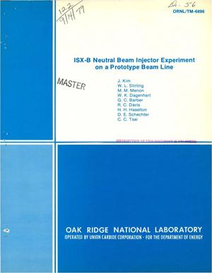 Primary view of object titled 'ISX-B neutral beam injector experiment on a prototype beam line'.