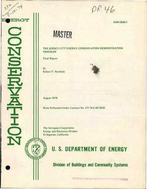 Primary view of object titled 'Jersey City energy conservation demonstration program. Final report'.