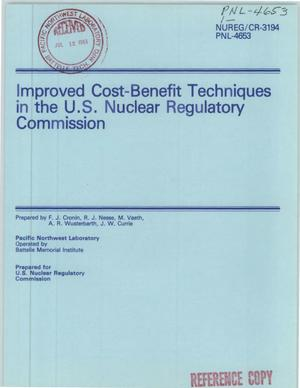 Primary view of object titled 'Improved cost-benefit techniques in the US Nuclear Regulatory Commission'.