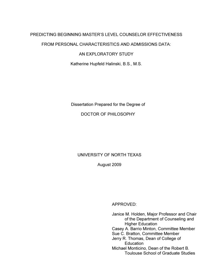 title page of a research paper definition
