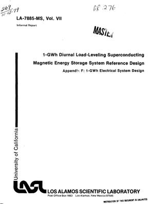 Primary view of object titled '1-GWh diurnal load-leveling superconducting magnetic energy storage system reference design. Appendix F. 1-GWh electrical system design'.