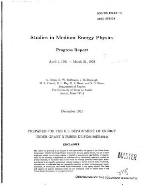 Primary view of object titled 'Studies in medium energy physics'.