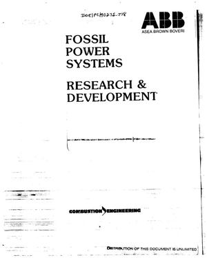 Primary view of object titled 'Development of an advanced high efficiency coal combustor for boiler retrofit'.