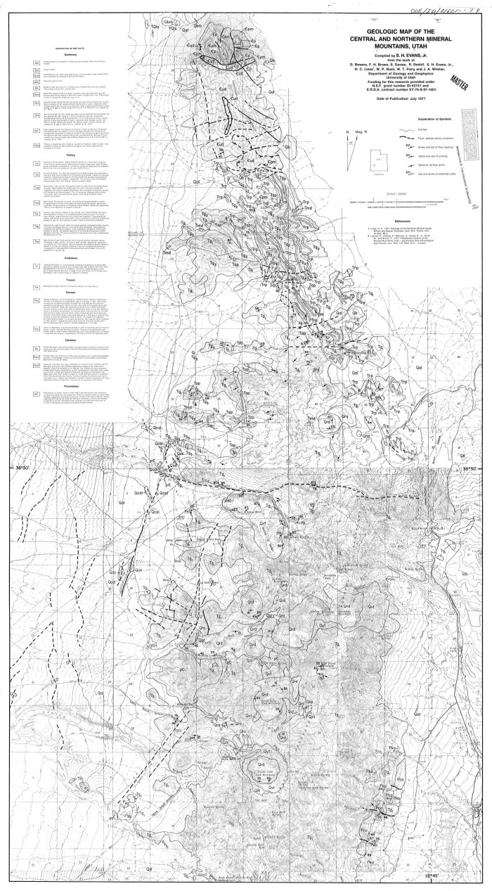 Geologic map of the central and northern Mineral Mountains ...