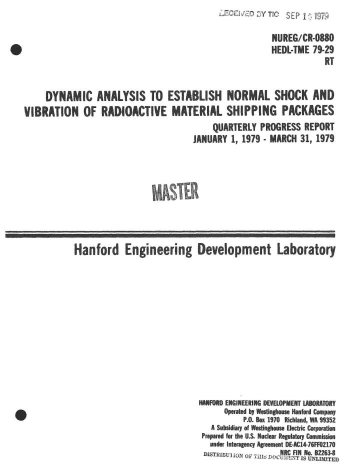 Dynamic Analysis To Establish Normal Shock And Vibration Of