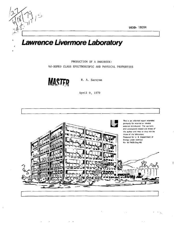 Handbook of Glass Properties