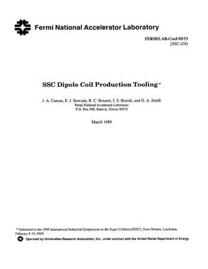Primary view of object titled 'SSC (Superconducting Super Collider) dipole coil production tooling'.