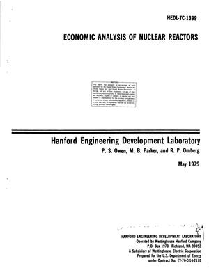 Primary view of object titled 'Economic analysis of nuclear reactors'.
