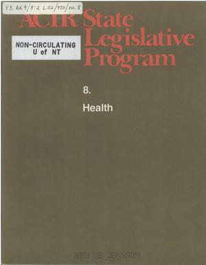 Primary view of object titled 'ACIR state legislative program : 8. Health'.