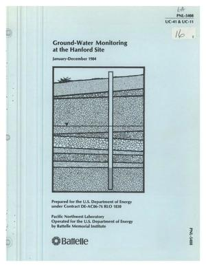 Primary view of object titled 'Ground-water monitoring at the Hanford Site, January-December 1984'.