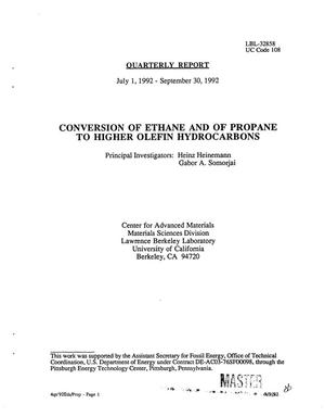 Primary view of Conversion of ethane and of propane to higher olefin hydrocarbons