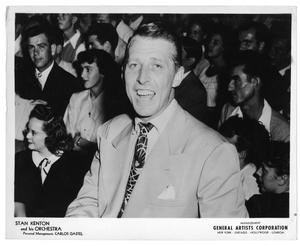 Primary view of object titled '[Photograph of Stan Kenton and Crowd]'.