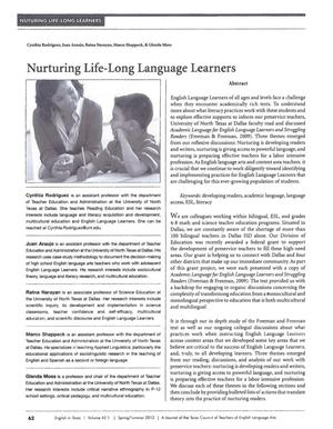 Primary view of object titled 'Nurturing Life-Long Language Learners'.
