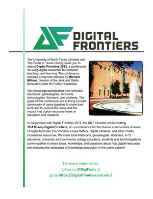 Primary view of object titled 'Flyer: Digital Frontiers'.