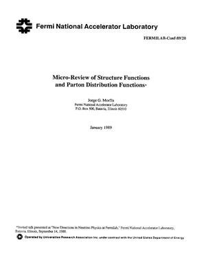 Primary view of Micro-review of structure functions and parton distribution functions