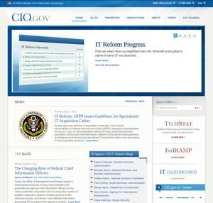 Primary view of object titled 'CIO.gov'.