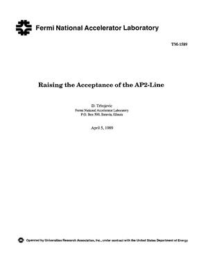 Primary view of object titled 'Raising the acceptance of the AP2-line'.