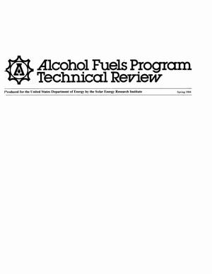 Primary view of object titled 'Alcohol Fuels Program technical review, Spring 1984'.