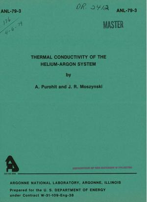 Primary view of object titled 'Thermal conductivity of the helium-argon system'.