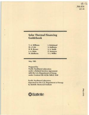 Primary view of object titled 'Solar thermal financing guidebook'.