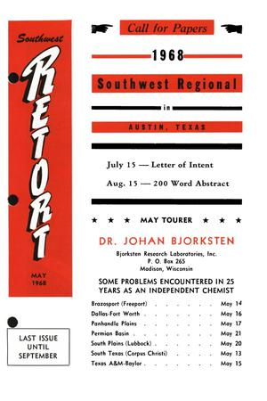Primary view of object titled 'Southwest Retort, Volume 20, Number 9, May 1968'.