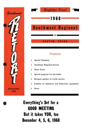 Primary view of object titled 'Southwest Retort, Volume 21, Number 1, September 1968'.