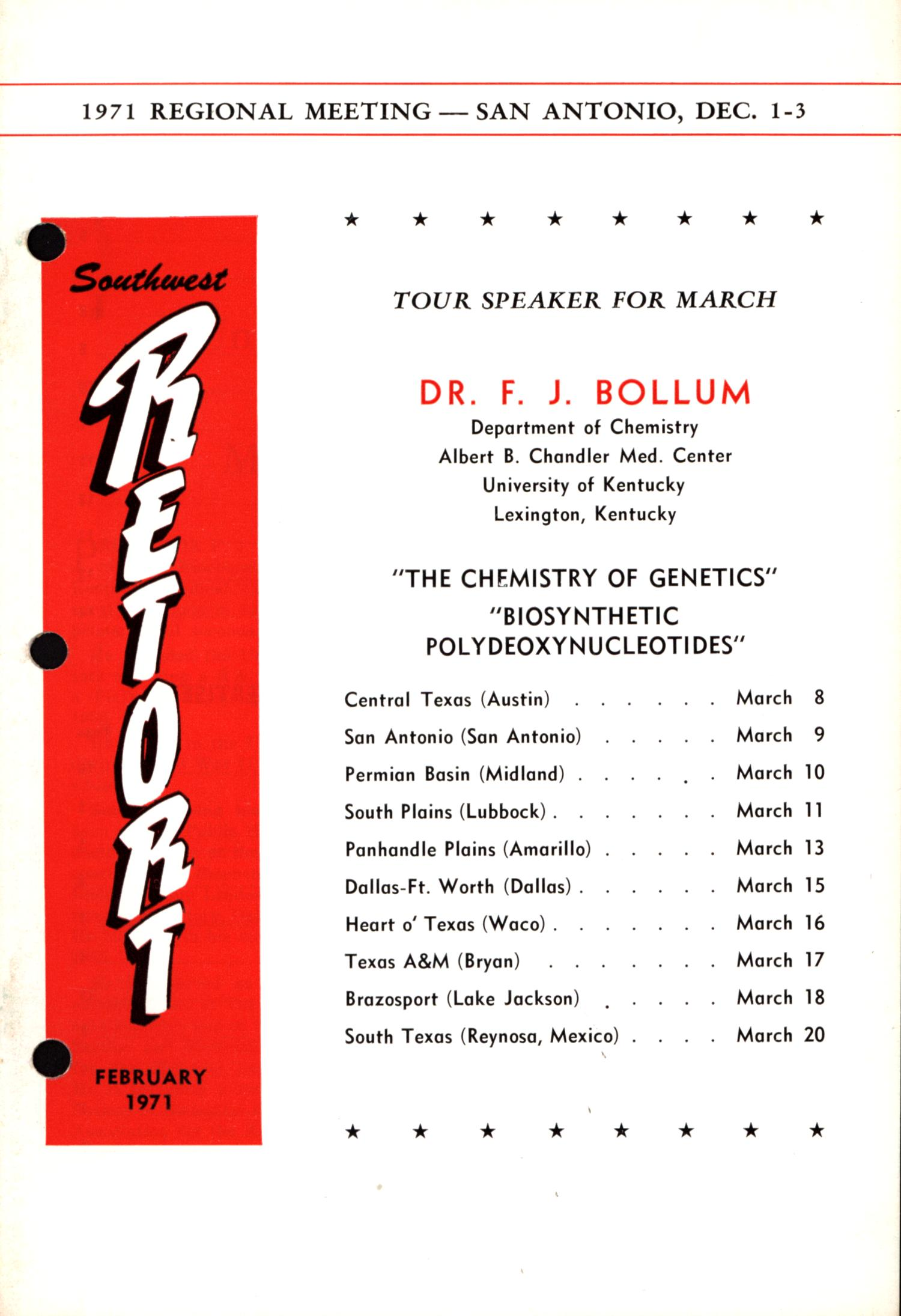 Southwest Retort, Volume 23, Number 6, February 1971                                                                                                      1