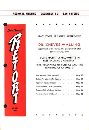 Primary view of object titled 'Southwest Retort, Volume 23, Number 8, April 1971'.