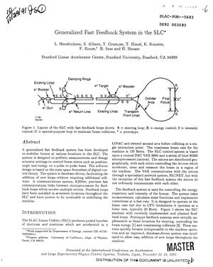 Primary view of object titled 'Generalized fast feedback system in the SLC'.