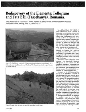 Rediscovery of the Elements: Tellurium and Fata Baii (Fascebanya), Romania.