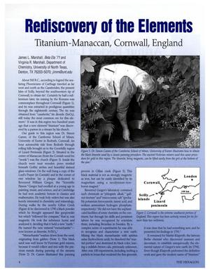 Primary view of object titled 'Rediscovery of the Elements: Titanium, Manaccan, Cornwall, England'.