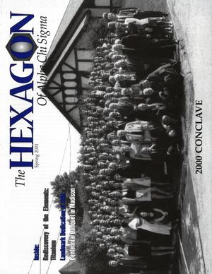The Hexagon, Volume 92, Number 1, Spring 2001
