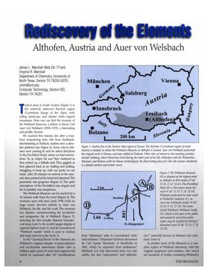 Rediscovery of the Elements: Althofen, Austria and Auer von Welsbach