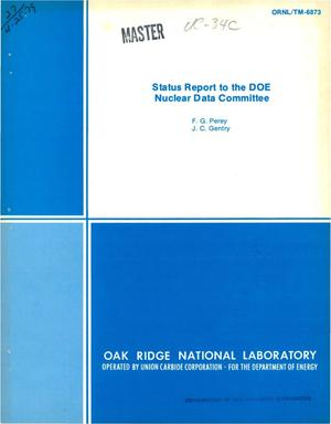 Primary view of object titled 'Status report to the DOE Nuclear Data Committee. [ORNL]'.