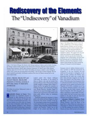 Rediscovery of the Elements: The Undiscovery of Vanadium