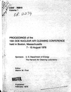 Primary view of object titled 'Proceedings of the fifteenth DOE nuclear air cleaning conference'.