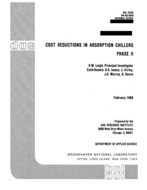 Primary view of object titled 'Cost reduction in absorption chillers: Phase 2'.