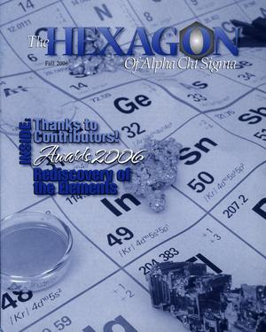 The Hexagon, Volume 97, Number 3, Fall 2006