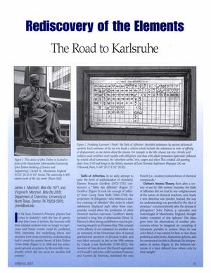 Rediscovery of the Elements: The Road to Karlsruhe