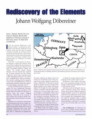 Rediscovery of the Elements: Johann Wolfgang Döbereiner