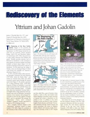 Rediscovery of the Elements: Yttrium and Johan Gadolin