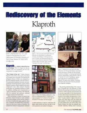 Rediscovery of the Elements: Klaproth