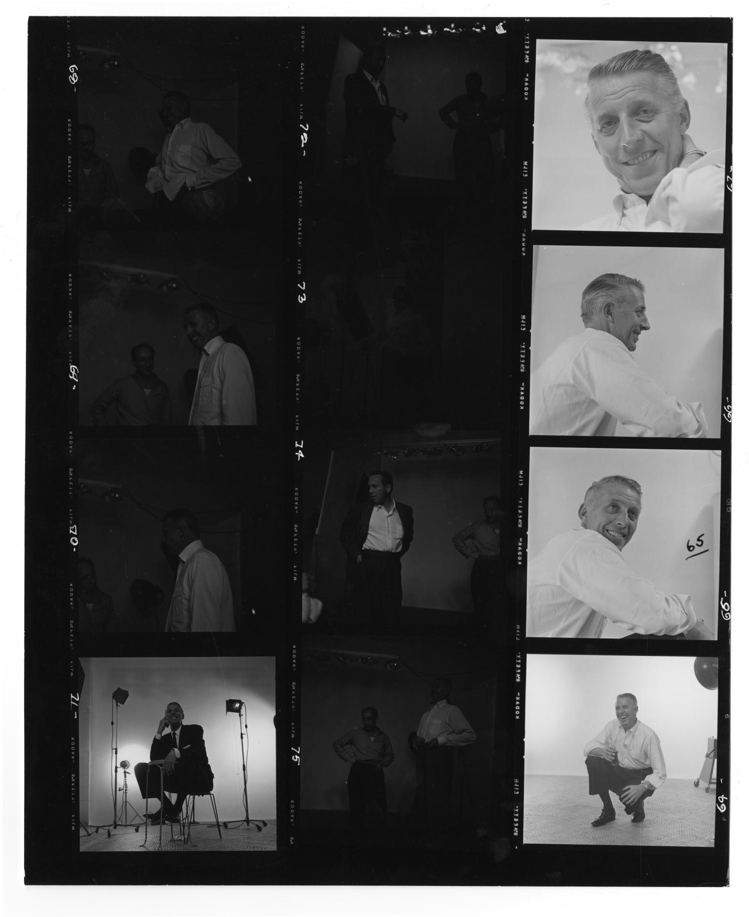 [Sheet of Photographs of Stan Kenton]                                                                                                      [Sequence #]: 1 of 2