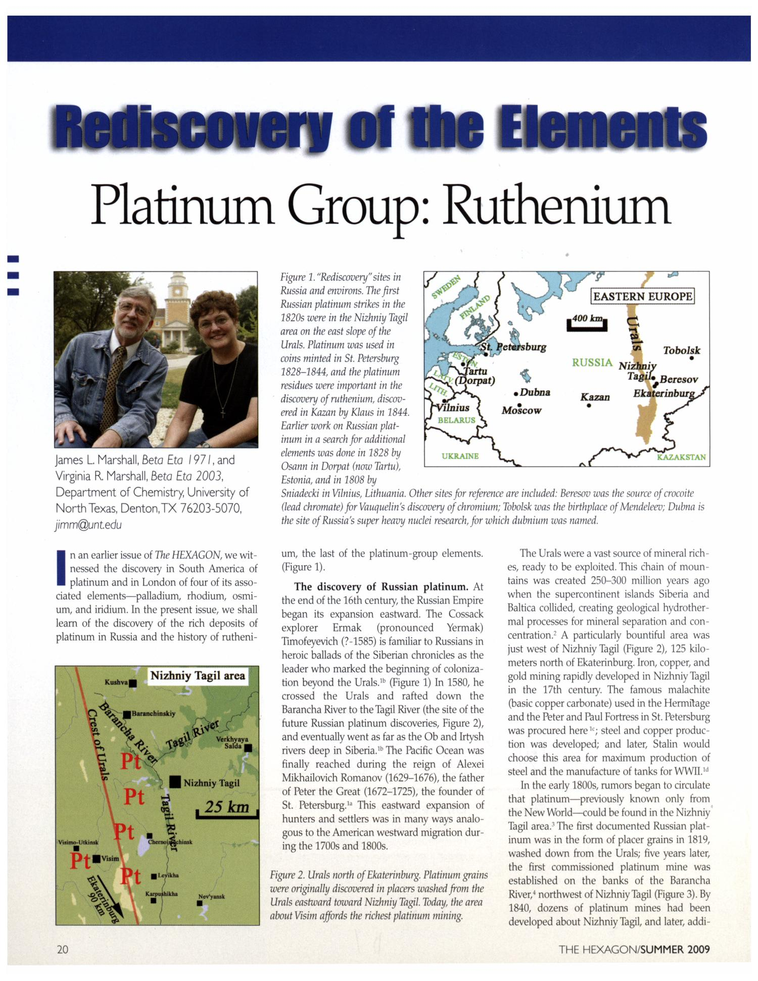 Rediscovery of the Elements: Ruthenium                                                                                                      [Sequence #]: 1 of 5