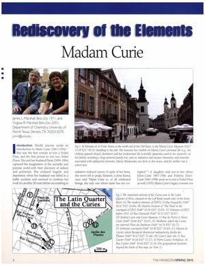 Rediscovery of the Elements: Madam Curie